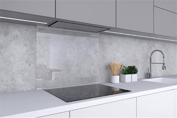Clear Glass Backsplash (23.6x27.6)